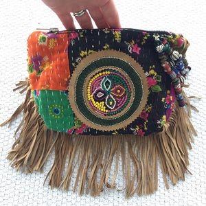 Antik Batik Handbags - Antik Batik boho fringe festival clutch handbag