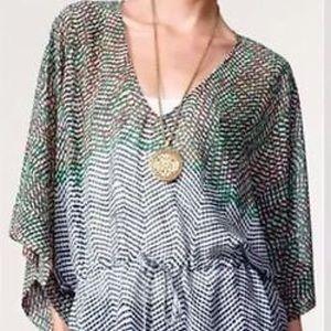 CAbi 731 Arts Kimono Sleeve Sheer Blouse  S