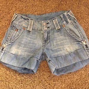 True Religion Pants - True Religion Sammy Denim Cuff Shorts Size 27