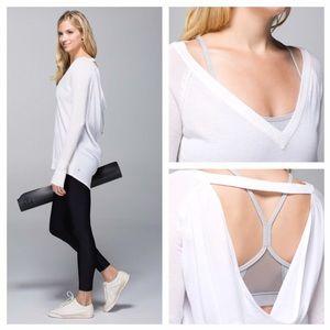 Lululemon Unity Pullover Heathered White/White