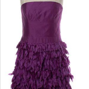 Reiss strapless fringe dress