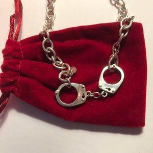Jessica Elliot handcuff choker sterling silver