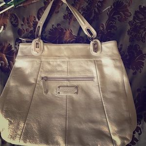 Tignanello Handbags - Tignanello silver/gold purse
