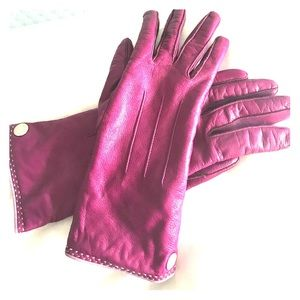 Coach leather gloves-cashmere lined