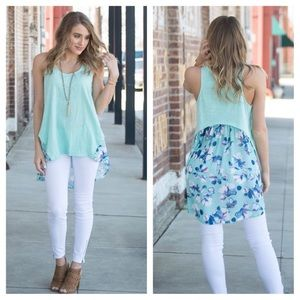 Tops - 🦋COMING SOON🦋Summer's Calling Mint & FloralTunic