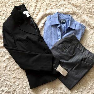 Charter Club Jackets & Blazers - 👩🏻💻Charter Club Black Pinstriped Blazer, Sz 4