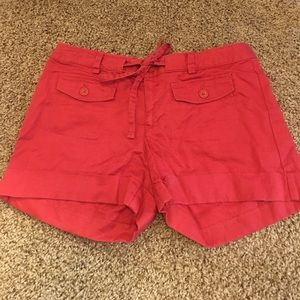 Banana Republic Pants - Banana Republic Red Ryan Fit Shorts Size 4 New