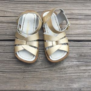 Salt Water Sandals by Hoy Other - Girls Saltwater Sandals Gold Sz7