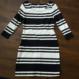 Final! Old Navy 3/4 sleeve body con striped dress