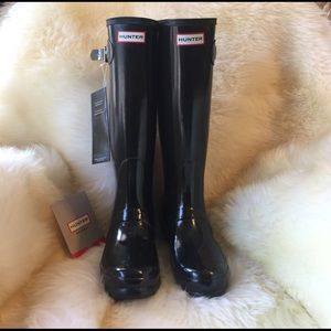 Hunter Boots Shoes - Tall glossy Hunter boots