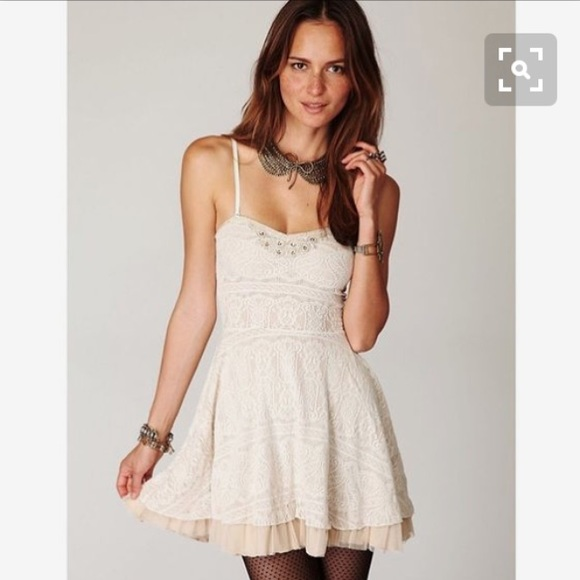 554e8781fa78f Free People Strapless Lace and Tulle Dress