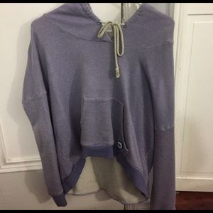 Without Walls Sweaters - Purple High Low Hoodie