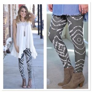 Infinity Raine Pants - ✨2 for 35✨ Grey tie dye leggings OS