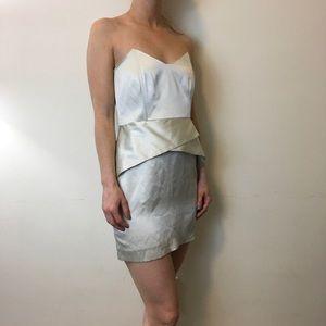Mason Dresses & Skirts - Mason Satin Ivory Silk Strapless Sexy Dress