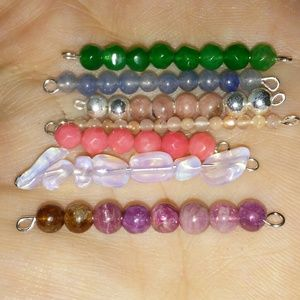 Jewelry - Gemstone Bar Pendants {Sterling & Genuine Gems}