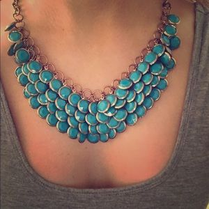 Teal/Blue Statement Necklace