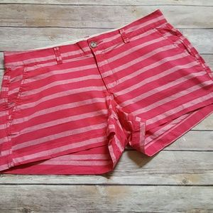 Old Navy Pants - Old Navy Pink Striped Cotton Shorts