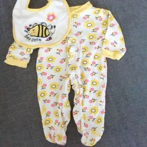 Baby Gear Other - Baby Gear Footie with Bib