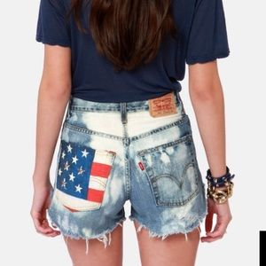 The Laundry Room Pants - American Flag Shorts