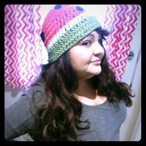 tswcouture Accessories - Watermelon crochet beanie handmade