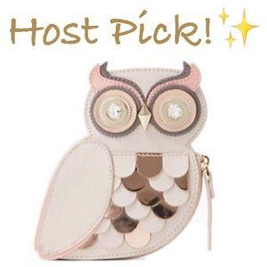 kate spade Handbags - ✨NWT✨ Kate Spade Owl Coin Purse Blaze A Trail