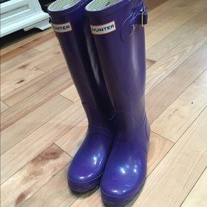 Hunter Boots Other - Hunter original tall gloss boots in 4m/5f purple