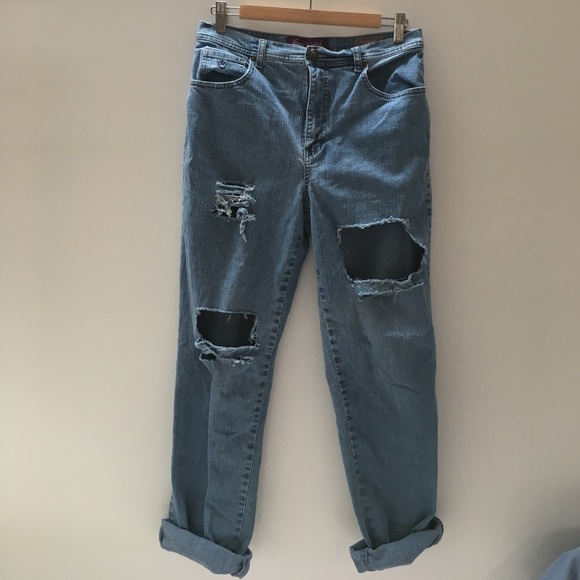 Super discount official store where to buy {Gloria Vanderbilt} distressed blue jeans