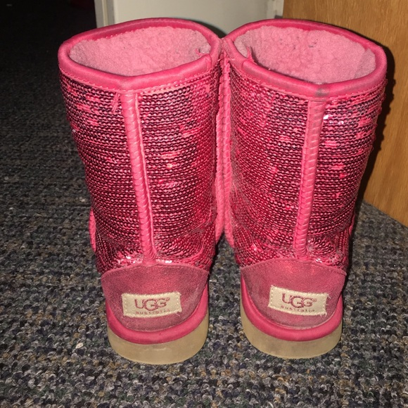 sparkly pink ugg slippers