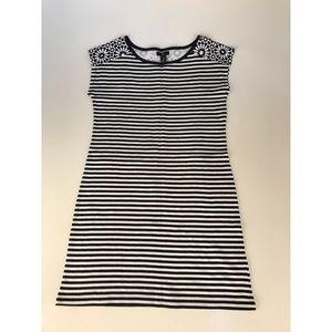 Gap Navy/White Striped T-Shirt Dress (XS)
