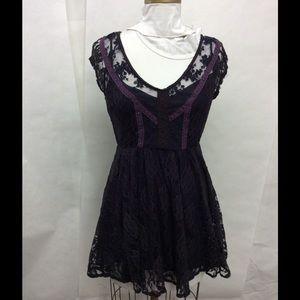Kimchi Blue black lace vintage boho dress NWOT