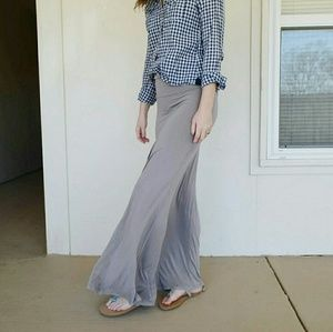Dresses & Skirts - Knit Neutral Maxi Skirt FITS SMALL OR MEDIUM
