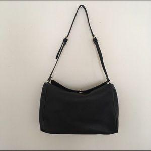 Zara Basic Shoulder Bag in Black Faux Leather