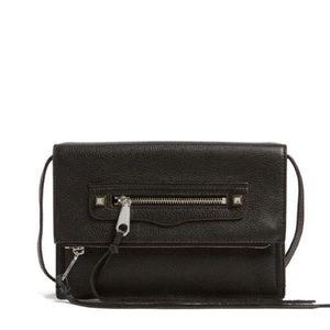 Rebecca Minkoff Handbags - Rebecca Minkoff Black Leather Crossbody/Clutch