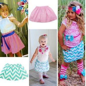 Other - Chevron Print Boutique Girls Skirts! Asst. Colors!