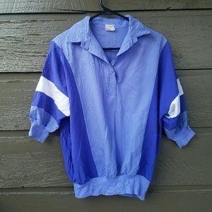 Vintage Tops - Vintage Purple Windbreaker Style Top