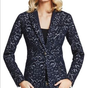 CAbi Jackets & Blazers - 🎉Final Price🎉CAbi Navy Jacquard Paisley Blazer
