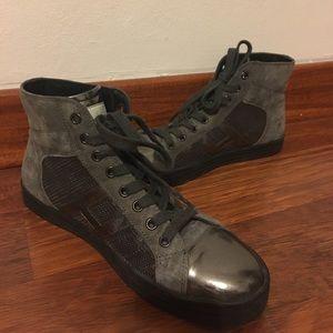 Hogan Shoes - Hogan Rebel 20mm High Top Suede Sequin Sneakers