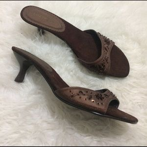 Lane Bryant Shoes - Lane Bryant kitten Heel Open Toe Slip ons 12W