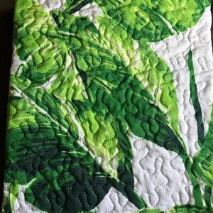Palm leaf quilted throw 