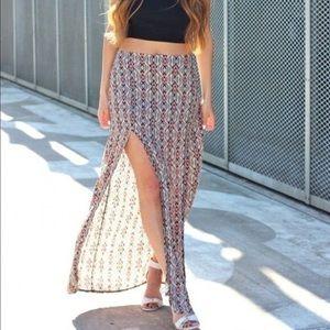 Brandy Melville Dresses & Skirts - Brandy Melville John Galt Aztec Double Slit Maxi