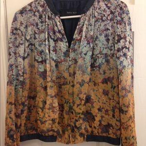 Zara Basic Floral Bomber Jacket