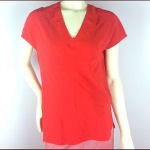 Aspesi Tops - Aspesi Red Silk Cap Sleeve Top