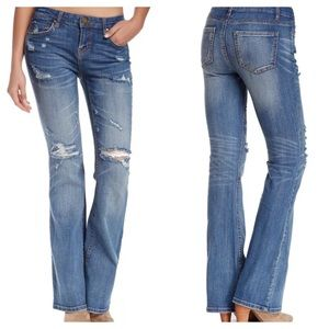 New! | Love Fire | Distressed Bootcut Jeans