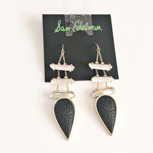 Sam Edelman black and gold chandelier earrings