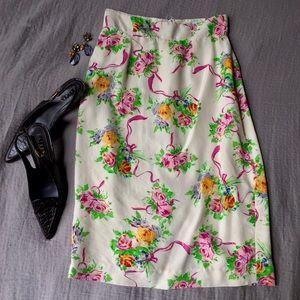 Emanuel Ungaro Dresses & Skirts - Vintage Silk Emanuel Ungaro Floral Pencil Skirt