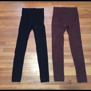 Pants - 🐶🐨Bundle:Brown&Black Leggings+ 🎁
