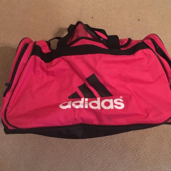 Adidas Bags   Hot Pink And Black Duffle Bag   Poshmark 2e1c03edca