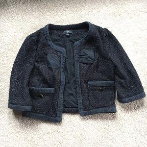 Aqua Sweaters - Sweater, Coverup Black Sparkle Aqua Brand