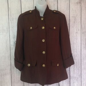 Coldwater Creek Jackets & Blazers - Brown Thin 3/4 Sleeve Lined Jacket or Blazer