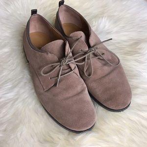 Franco Sarto Shoes - Franco Sarto Piper Tan Suede Oxford Loafer